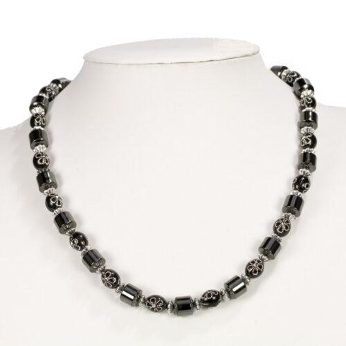 Veleprodaja Lipovac - GG Gradiška - Magnetna  ogrlica  hematit - crna sa dezenom