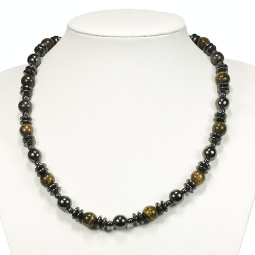 Veleprodaja Lipovac - GG Gradiška - Magnetna  ogrlica hematit sa drvenim kuglicama