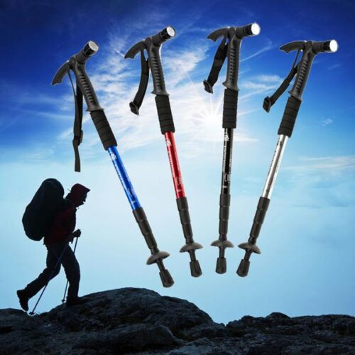 4-Section-Aluminum-Alloy-Outdoor-Camping-Hiking-Walking-Canes-Adjustable-Telescopic-Trekking-Pole-Stick-With-Compass