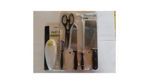 Veleprodaja Lipovac - GG Gradiška - Set - 5 kom različitih noževa + otvarač za konzerve
