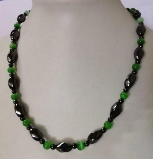 Veleprodaja Lipovac - GG Gradiška - Ogrlica magnetna perla zeleno crna 1